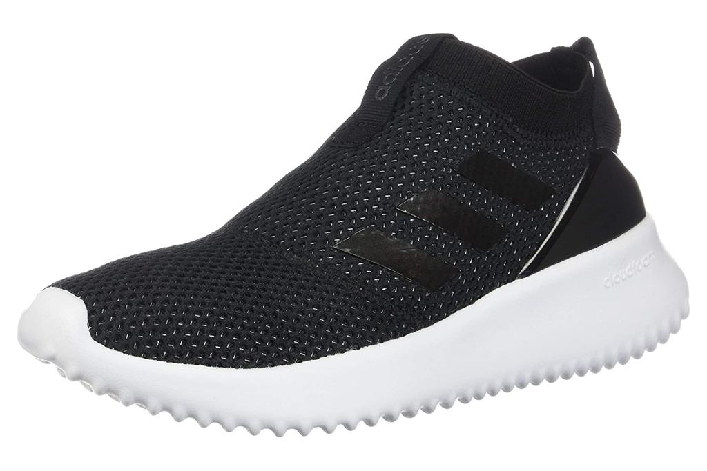 adidas sneakers, sock style, black