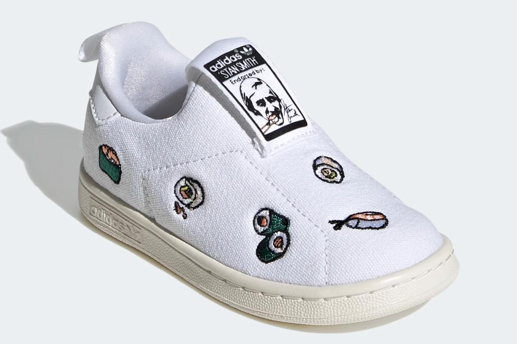 adidas, stan smith, sushi, toddler, white