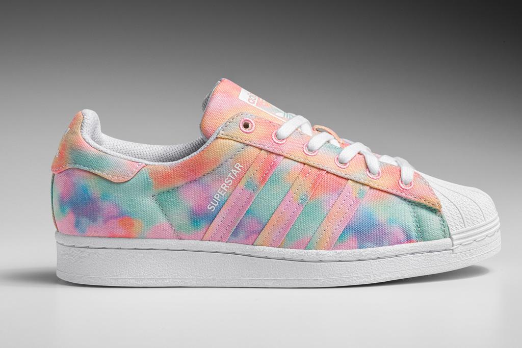 adidas, sneakers, tie-dye
