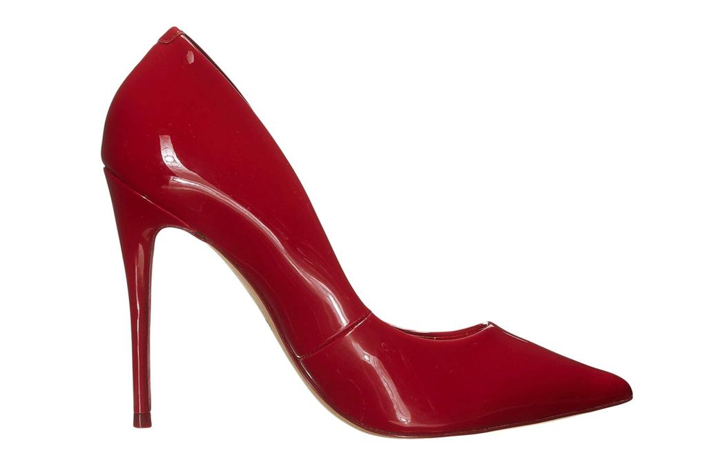 aldo, red heels, patent red, pumps