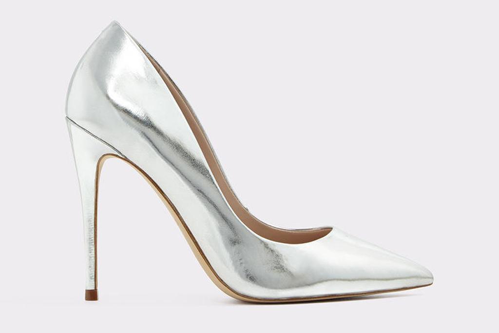 aldo silver pumps