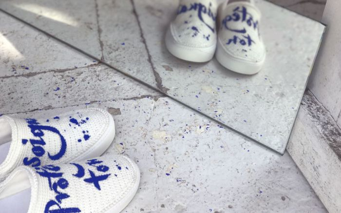 Amrose Paris xNicolas Ouchenir charity shoe