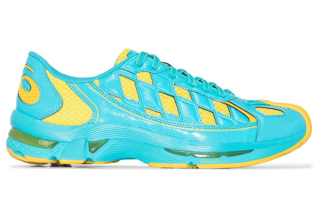 asics, kiko, blue, yellow, sneakers