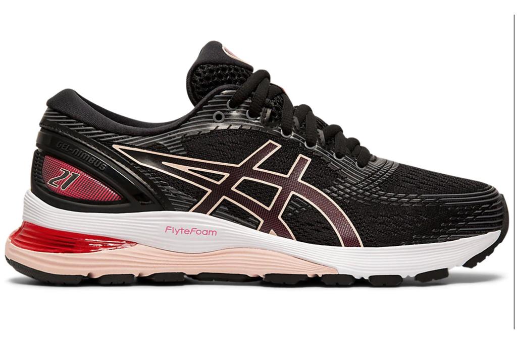 asics, sneakers, black pink