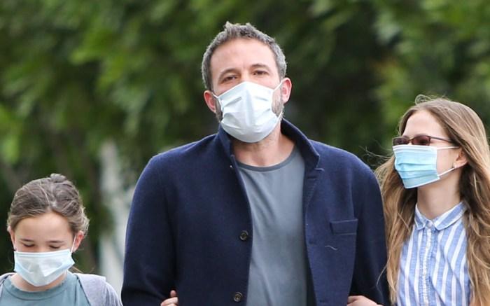Ben Affleck, seraphina, violet, celebrity style, april 2020