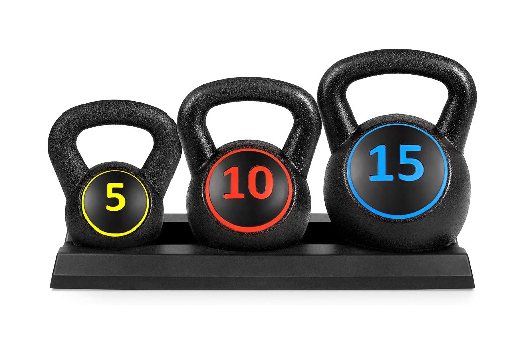 Best Choice Products 3-Piece Kettlebell Set