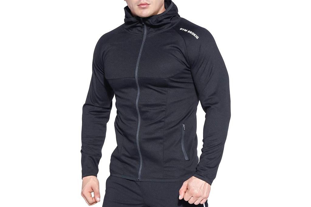 brokig, hoodie, mens, running
