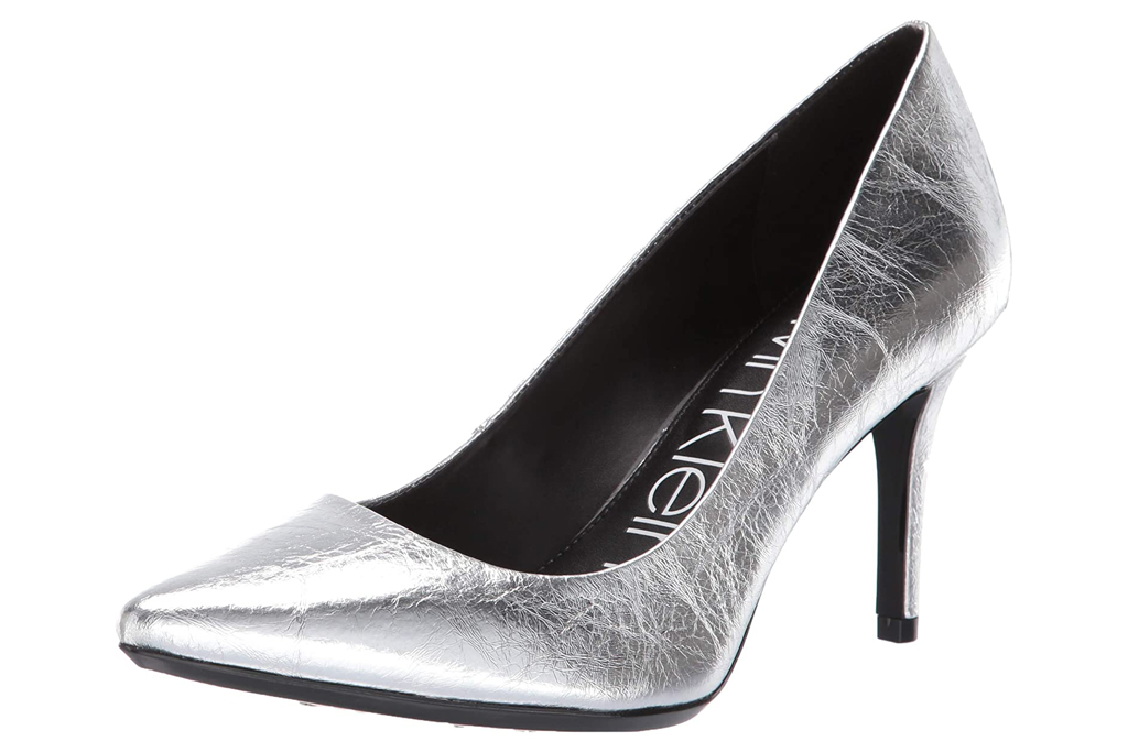 calvin klein, pumps silver