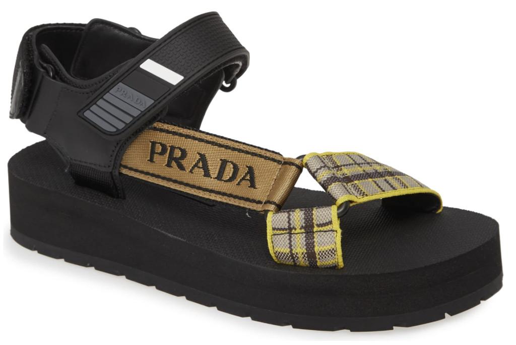carrie bradshaw wfh style, prada sandals, sandals