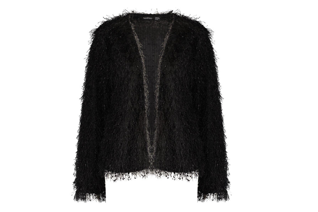 carrie bradshaw, work from home style, bohoo textured sweater