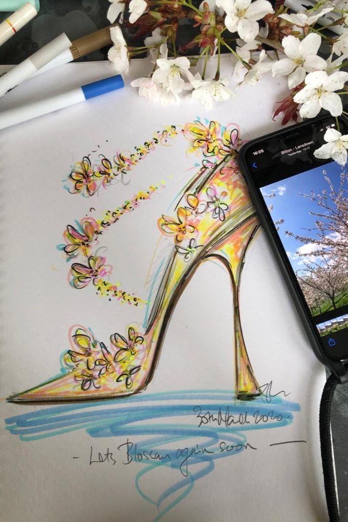 jimmy choo, optimism sketch, sandra choi, coronavirus charity