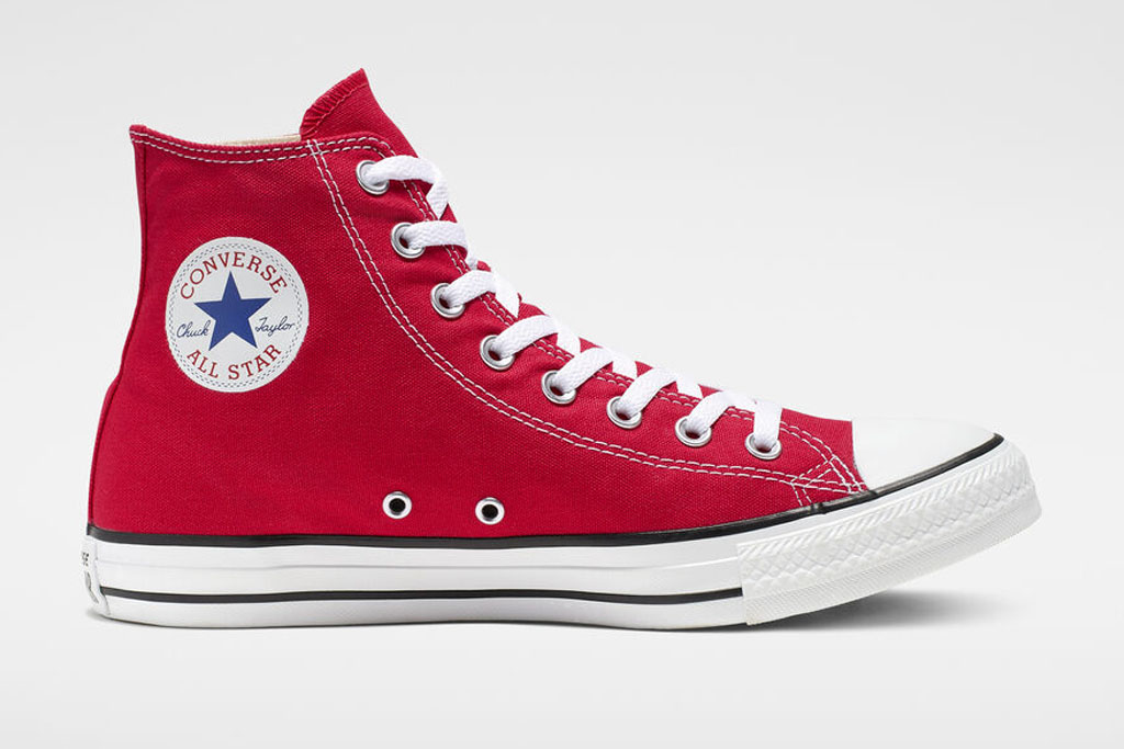 converse, red, all star, high top