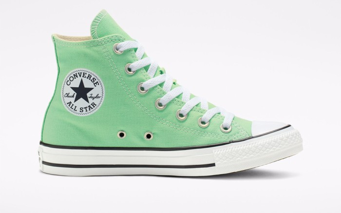 Seasonal Color Chuck Taylor All Star in Aphid Green, mint green, high top sneaker