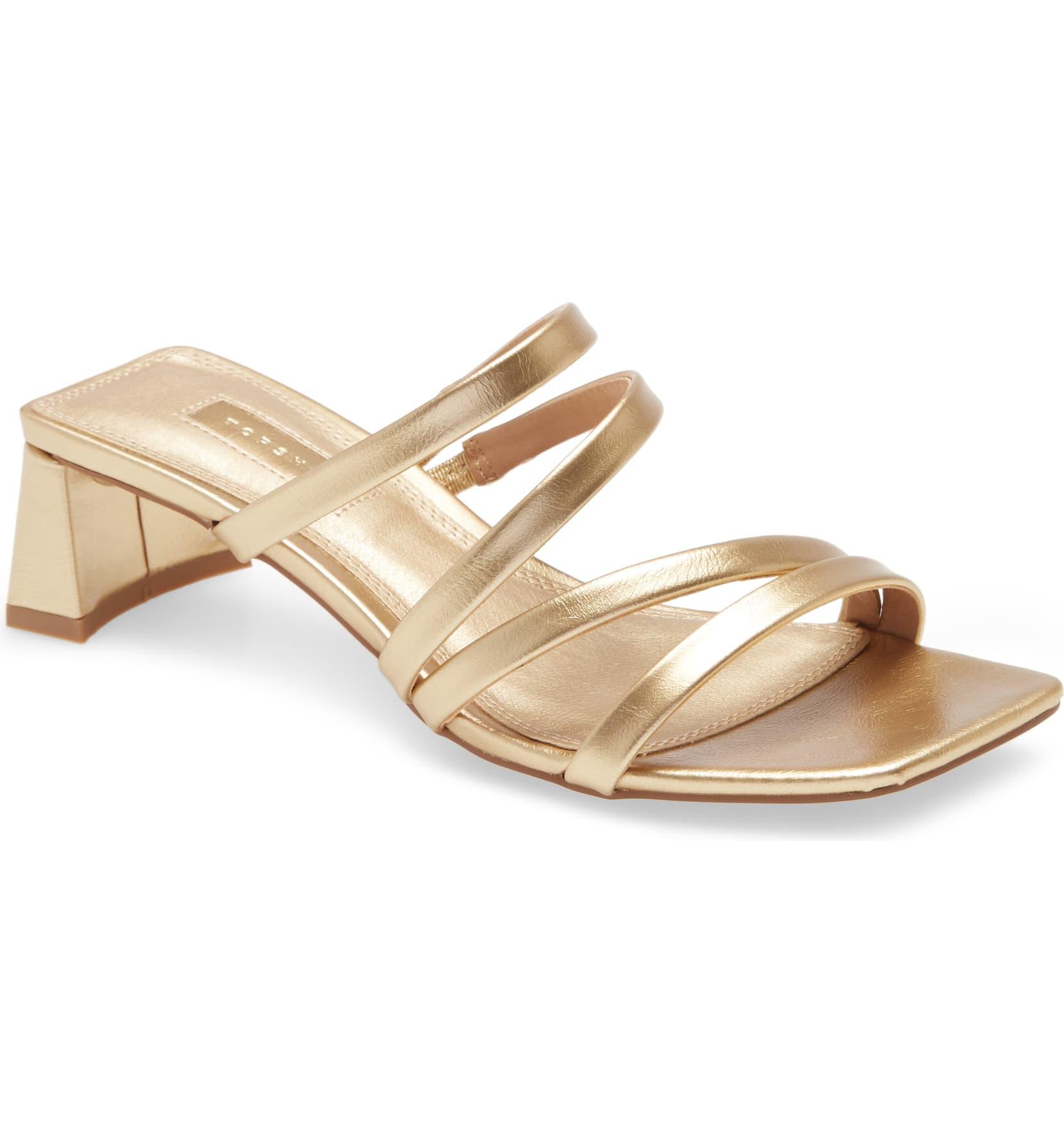 Topshop gold sandals