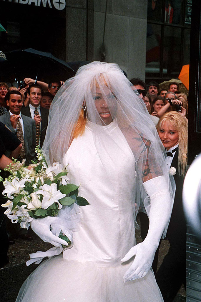 Dennis Rodman, Wedding dress, 1996
