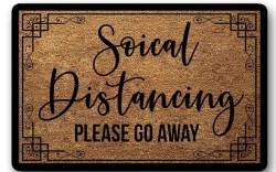social distancing, door mat