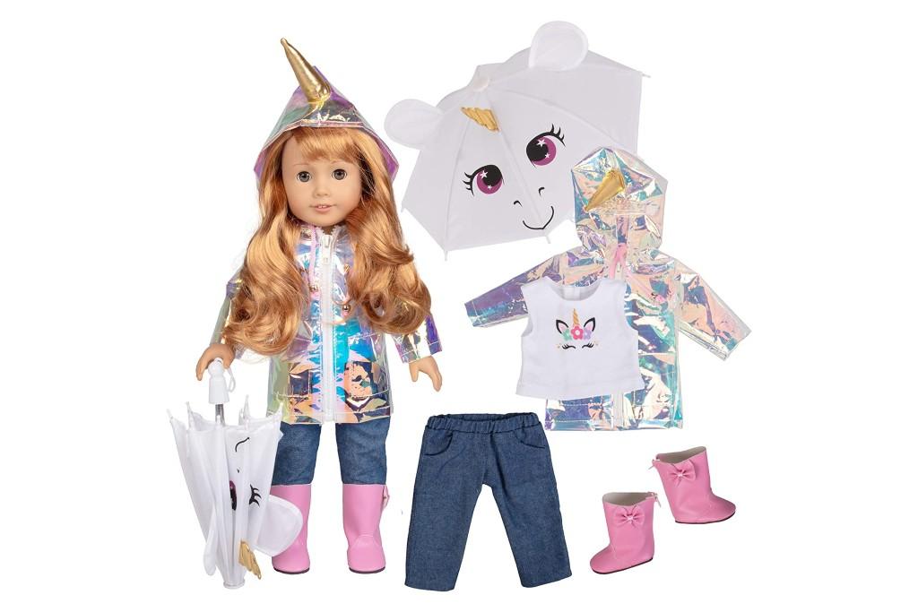 Dress Along Dolly Rainbow Unicorn Doll Outfit