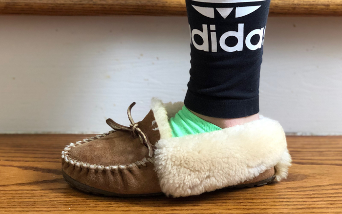 work from home, l.l. bean slides, slippers