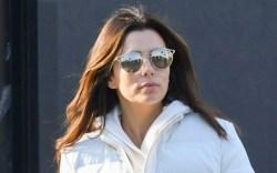 eva longoria, sunglasses, white