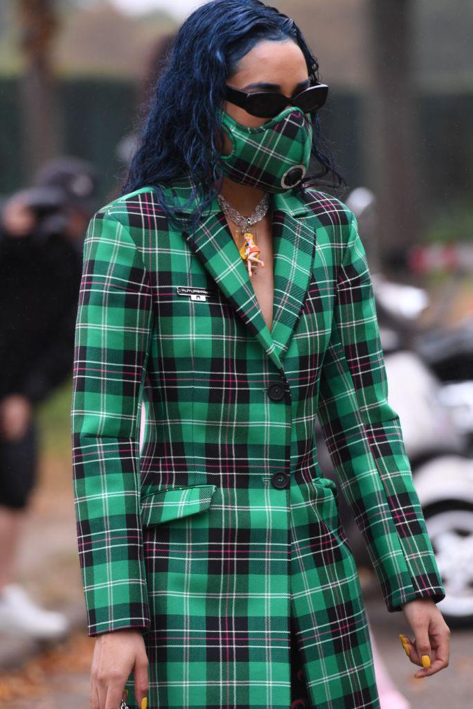 aleali may, face mask, fashion week