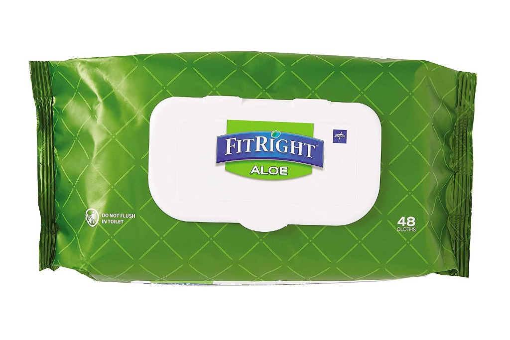 Medline FitRight Aloe Cleansing Wipes