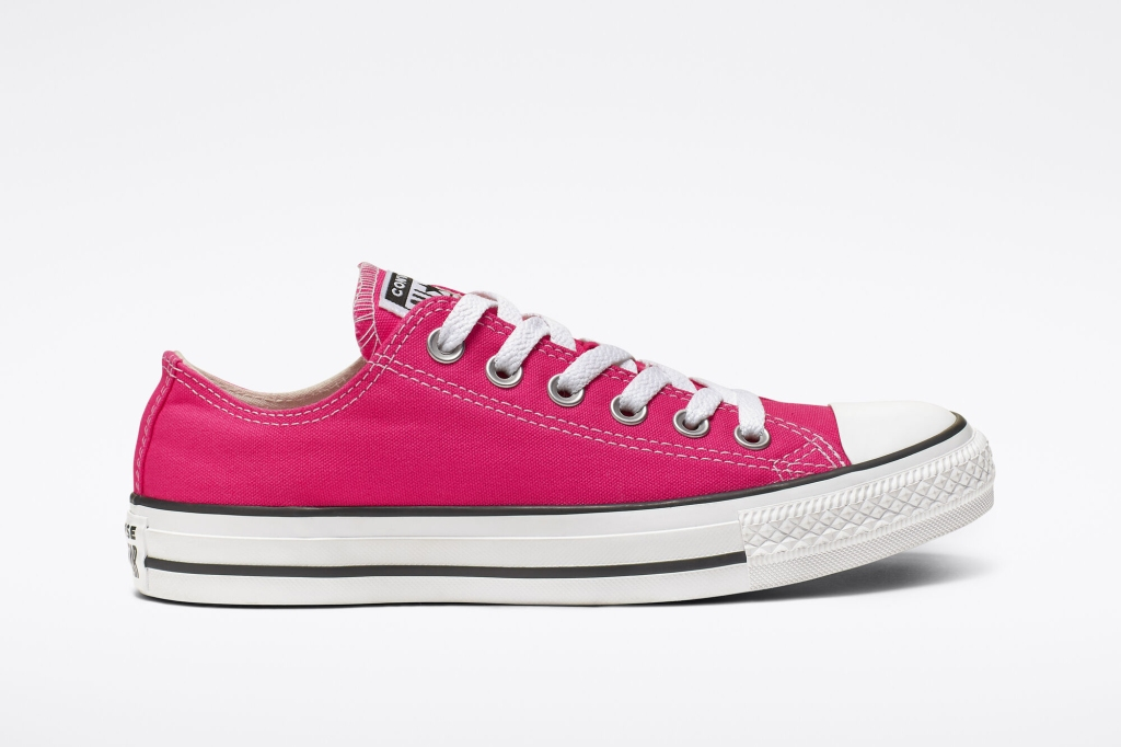 Seasonal Color Chuck Taylor All Star Low Top in Strawberry Jam, hot pink converse, low top