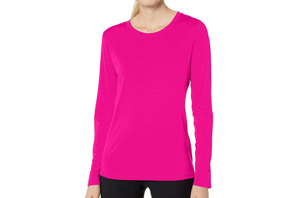 hanes, workout, shirt, pink