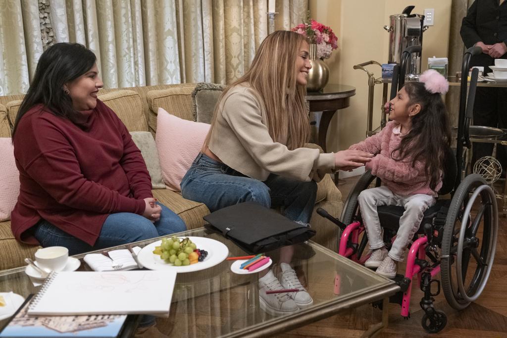 Jennifer Lopez, alexander mcqueen sneakers, quibi, j-lo, thanks a million, mom jeans, beige sweater