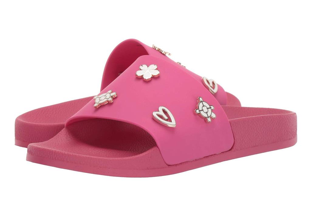 jack rogers, slides, pink, hot pink