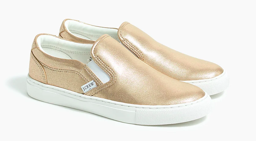 j crew metallic road trip sneaker, mother's day sneaker gifts