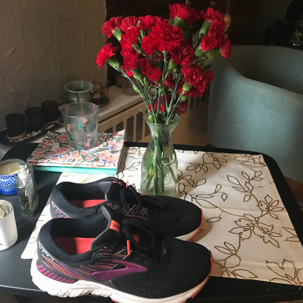 Work from home shoes, Brooks sneakers, purple sneakers