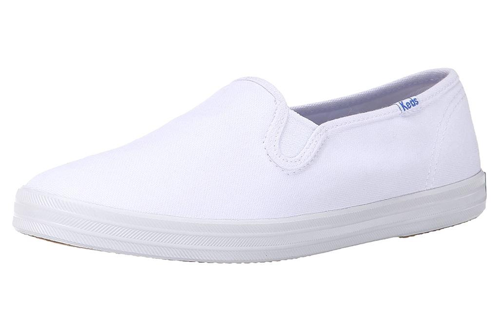 keds, slip on, sneaaker, white