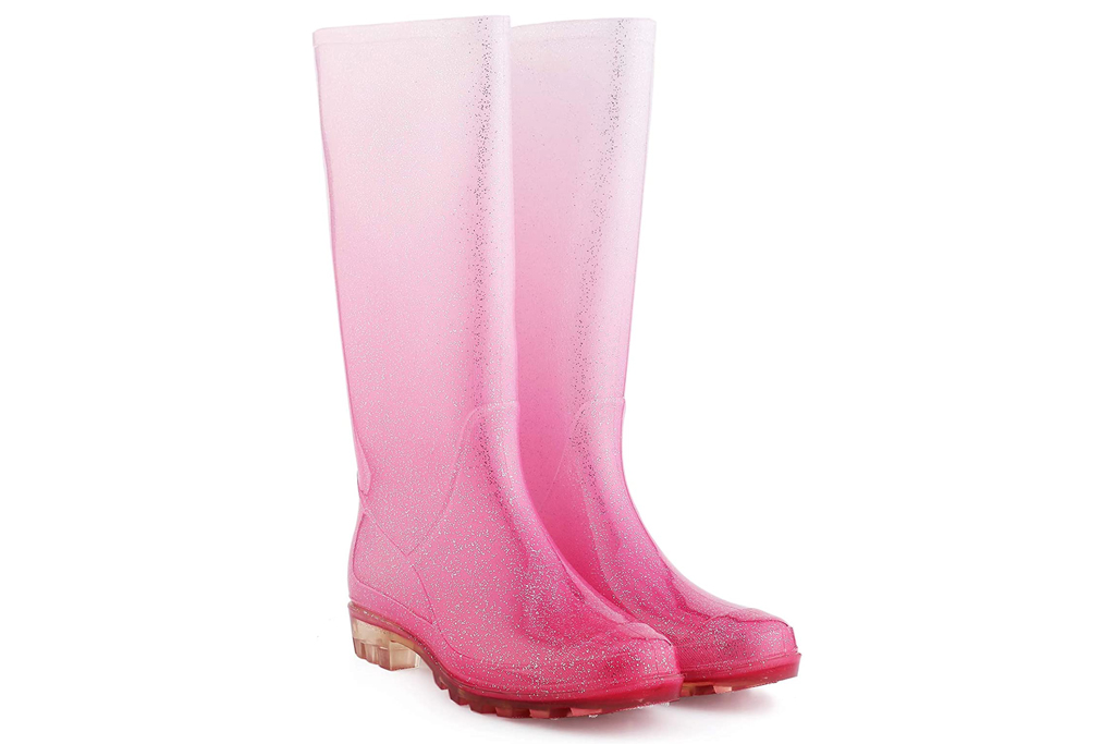 KomForme Women' s Knee High Waterproof Rain Boots