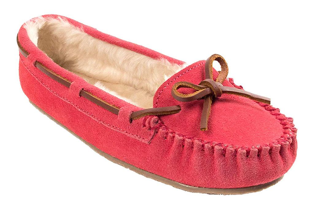 minnetonka slippers, hot pink