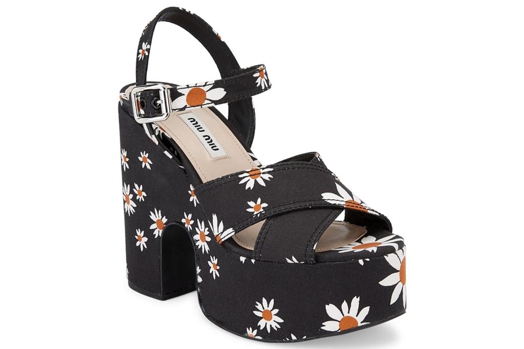 miu miu, daisy, platform sandal
