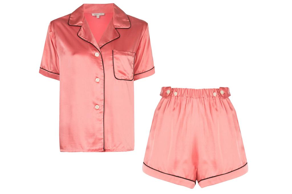morgan lane, pajamas, pink