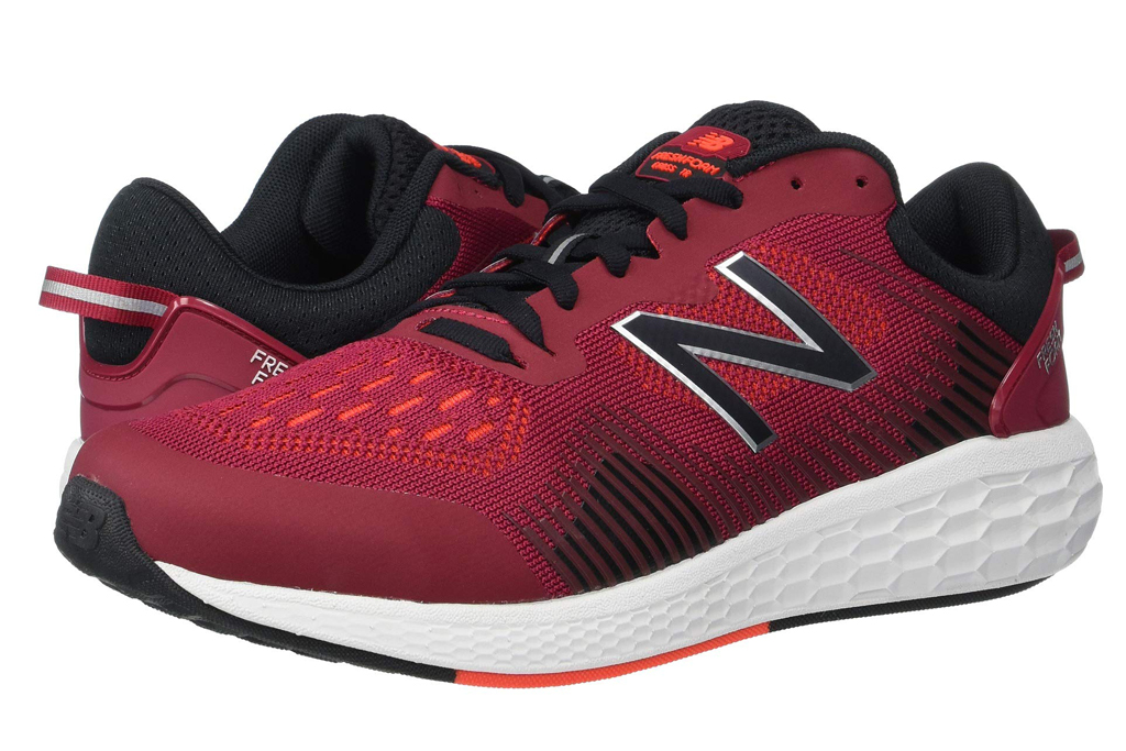 mens, new balance, sneakers, red