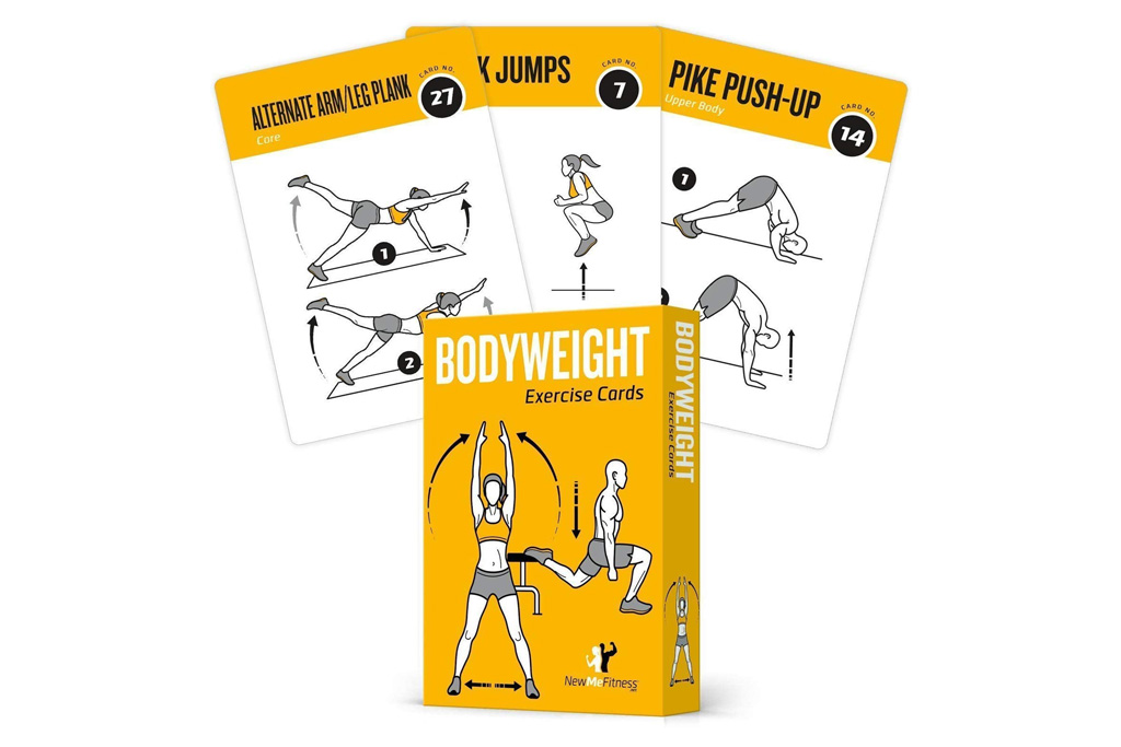 newme fitness, exercise cards
