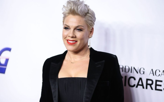 (FILE) Pink Reveals She Tested Positive For Coronavirus COVID-19 But Is Now Negative And Donates $1 Million To Fight Pandemic. She stated she was donating $1 million - $500,000 each to the Temple University Hospital Emergency Fund and the City of Los Angeles Mayor's Emergency COVID-19 Crisis Fund. LOS ANGELES, CALIFORNIA, USA - FEBRUARY 08: Singer P!nk (Pink, Alecia Beth Moore) arrives at the 2019 MusiCares Person Of The Year Honoring Dolly Parton held at the Los Angeles Convention Center on February 8, 2019 in Los Angeles, California, United States. (Photo by Xavier Collin/Image Press Agency)Pictured: P!nk,Pink,Alecia Beth MooreRef: SPL5160542 040420 NON-EXCLUSIVEPicture by: Xavier Collin/Image Press Agency/Splash News / SplashNews.comSplash News and PicturesLos Angeles: 310-821-2666New York: 212-619-2666London: +44 (0)20 7644 7656Berlin: +49 175 3764 166photodesk@splashnews.comWorld Rights
