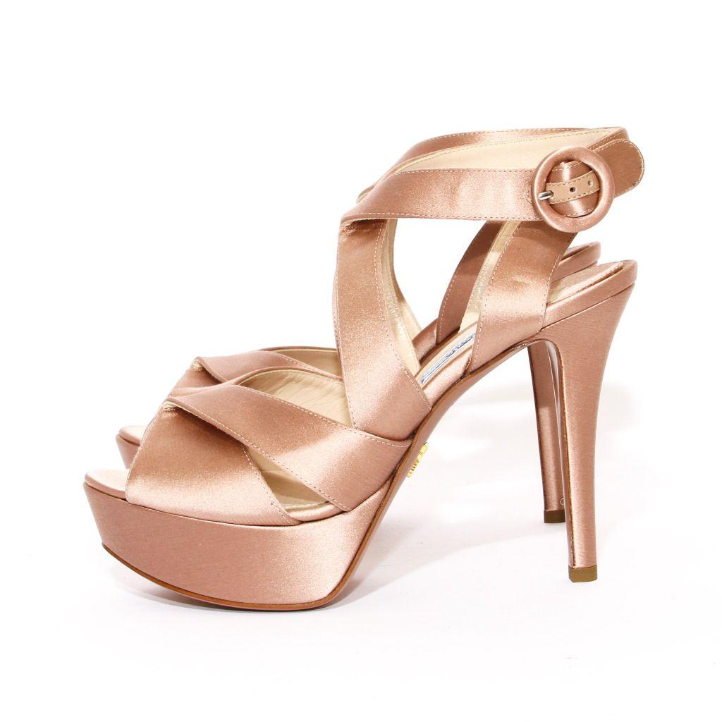 satin prada pump, decades LA, prada shoes, prada heels