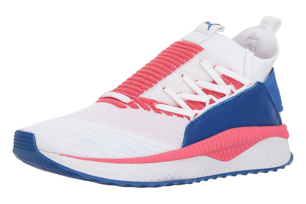 puma, sneakers, orange, blue