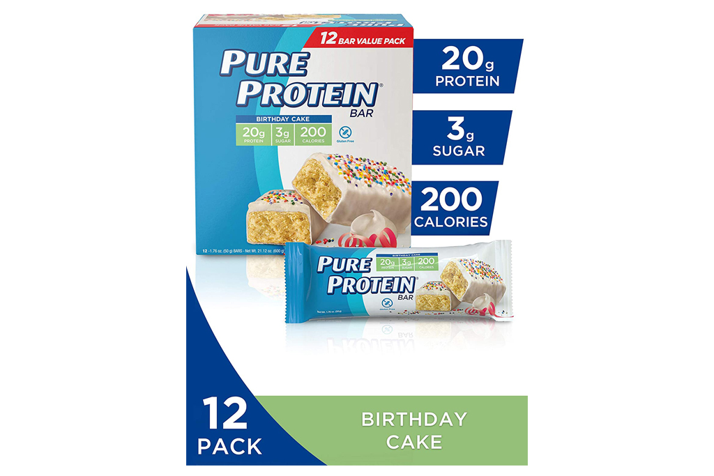 pure protein, protein bars
