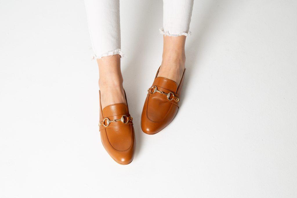 Quero Shoes Capri in tan leather