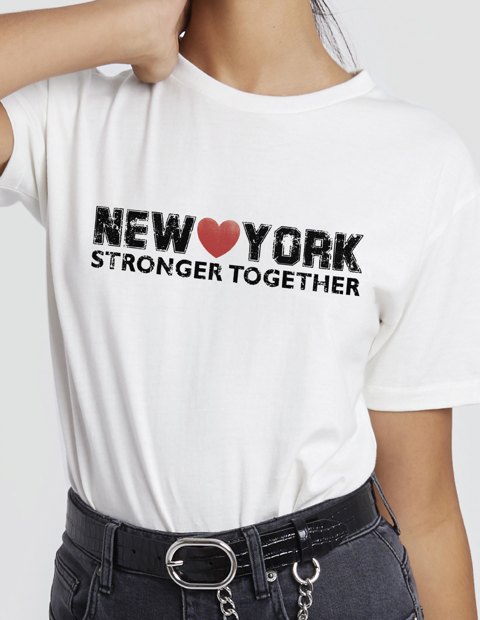 New York Stronger Together t-shirt, rebecca minkoff