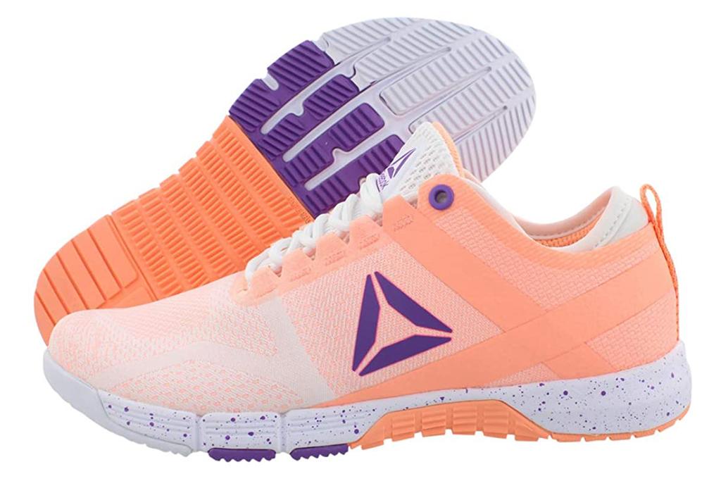 reebok, sneakers, orange