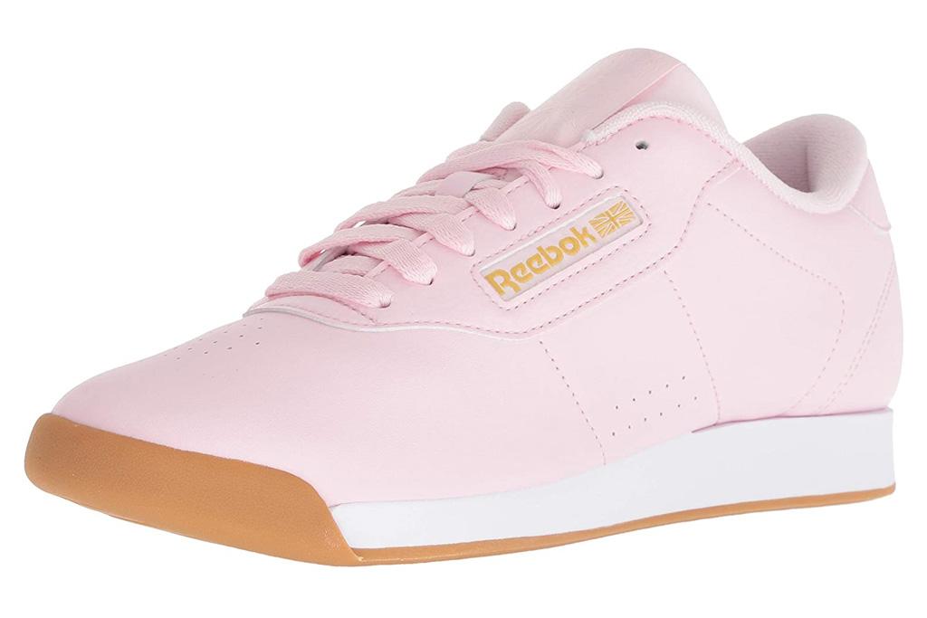 reebok sneakers, pink, pale
