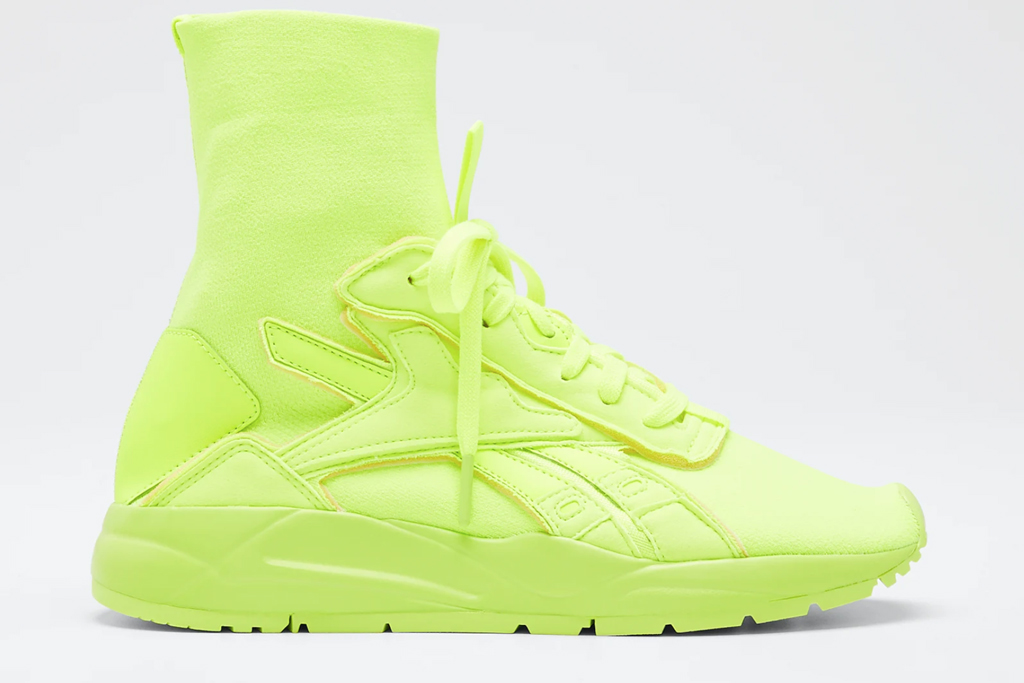 reebok, victoria beckham, yellow, sneakers, neon