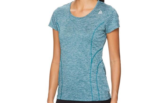 reebok, workout, shirt, short sleeve