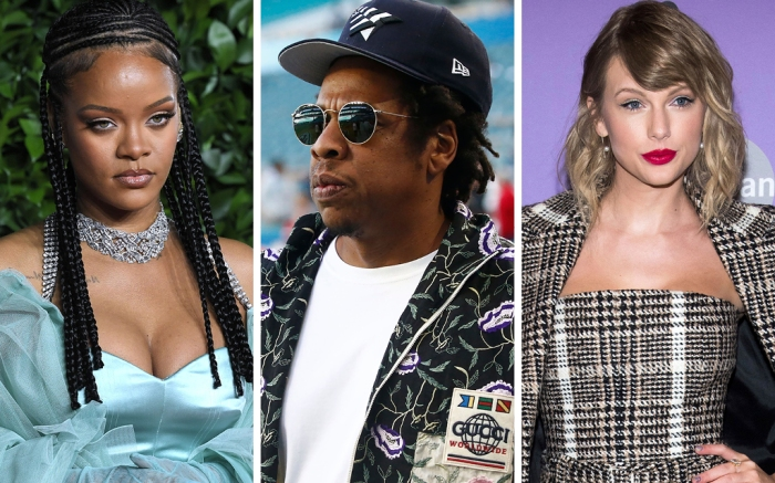 Rihanna, Jay Z, Taylor Swift
