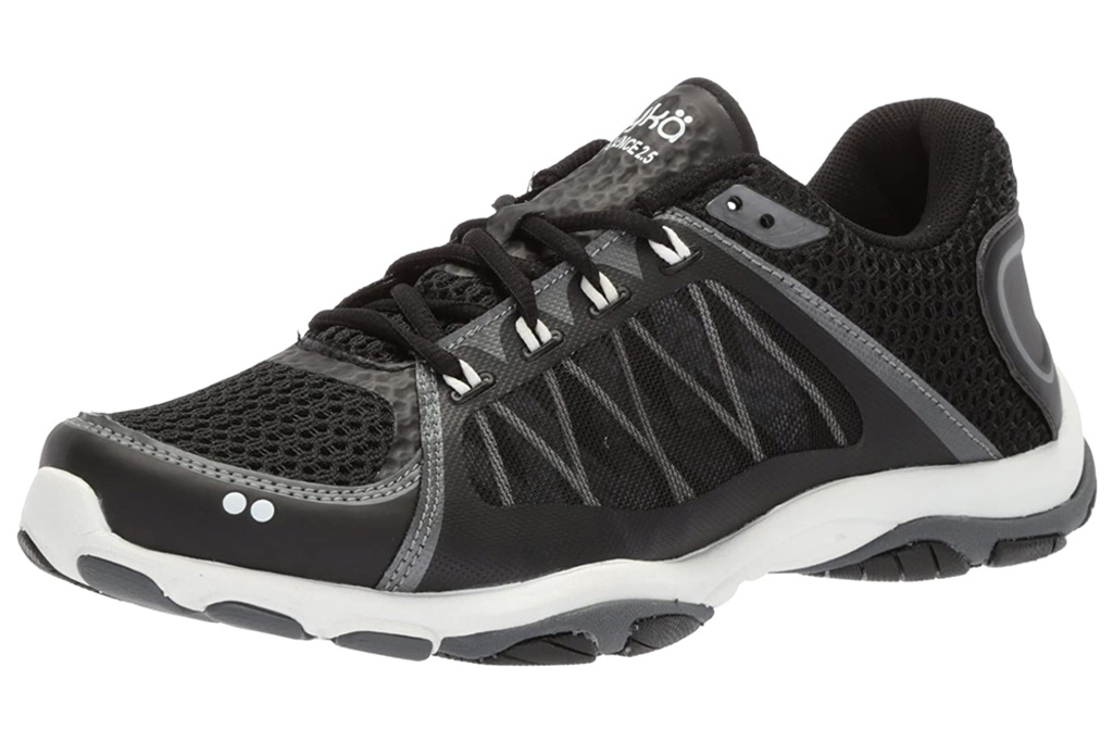 ryka, cross trainers, black, white